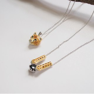 Head and Paw Cheetah necklace