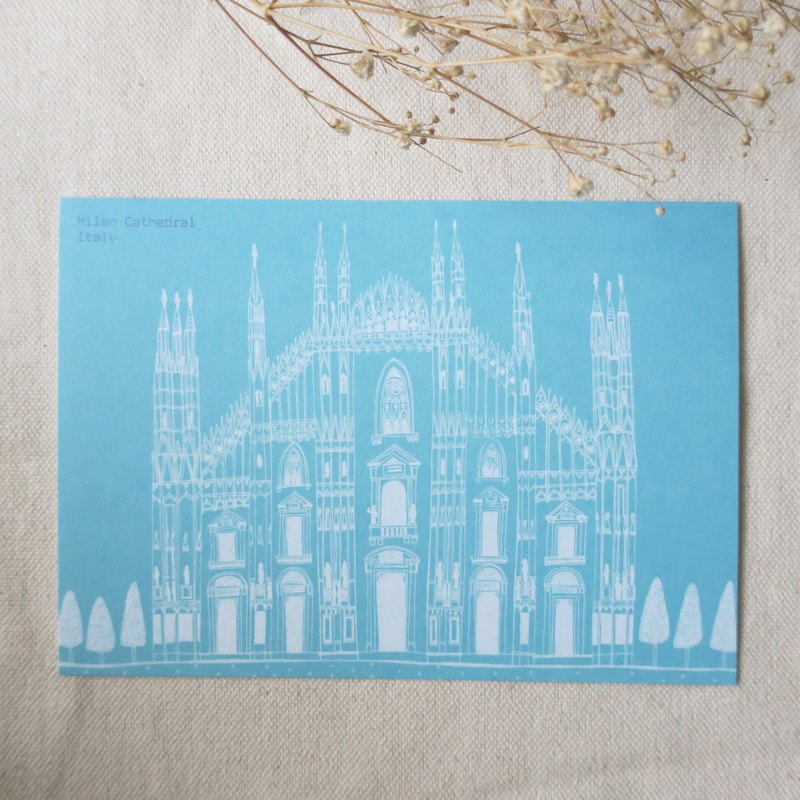 Travel Landscapes - Italy - Milan Cathedral / Illustrator Postcards