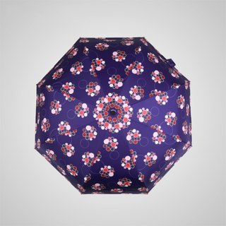 [German Kobold] Aster Dream - Ultra-lightweight massage handle UV anti-UV umbrella - Blue Purple with Rose