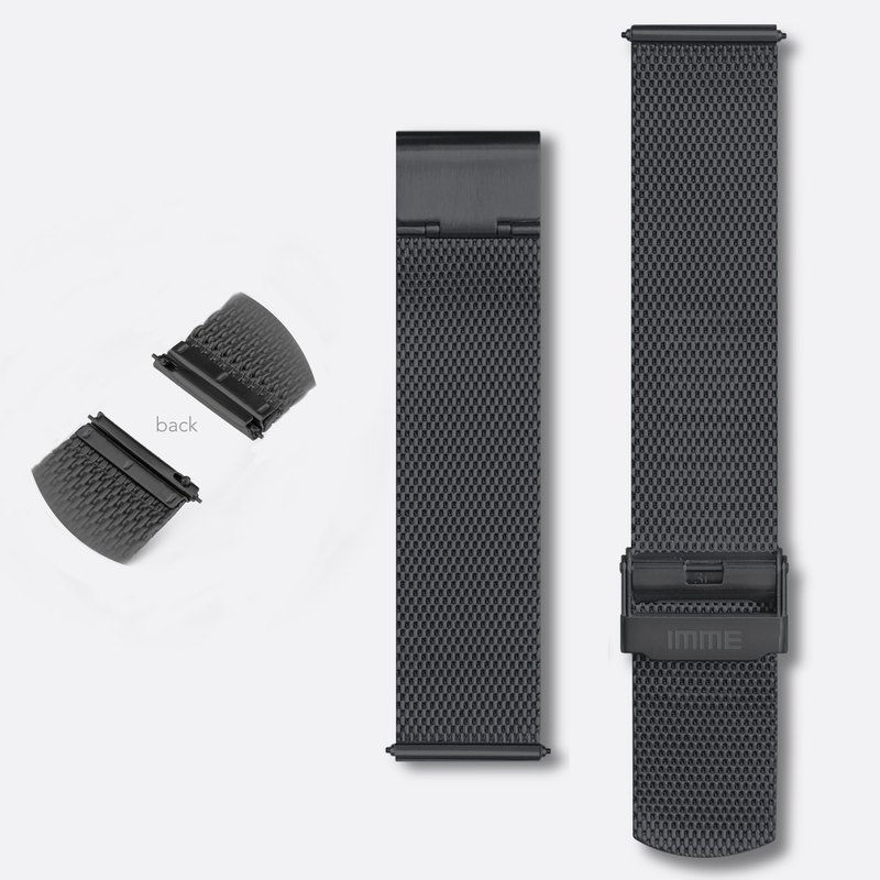 IMME - Stainless steel mesh band (IP Black)