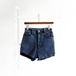 River water - W27 gray dark blue summer ocean time cotton tannin antique shorts ancient leather denim pants vintage