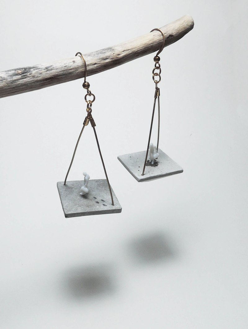 Cement Handmade Earrings Earrings - three degrees of space