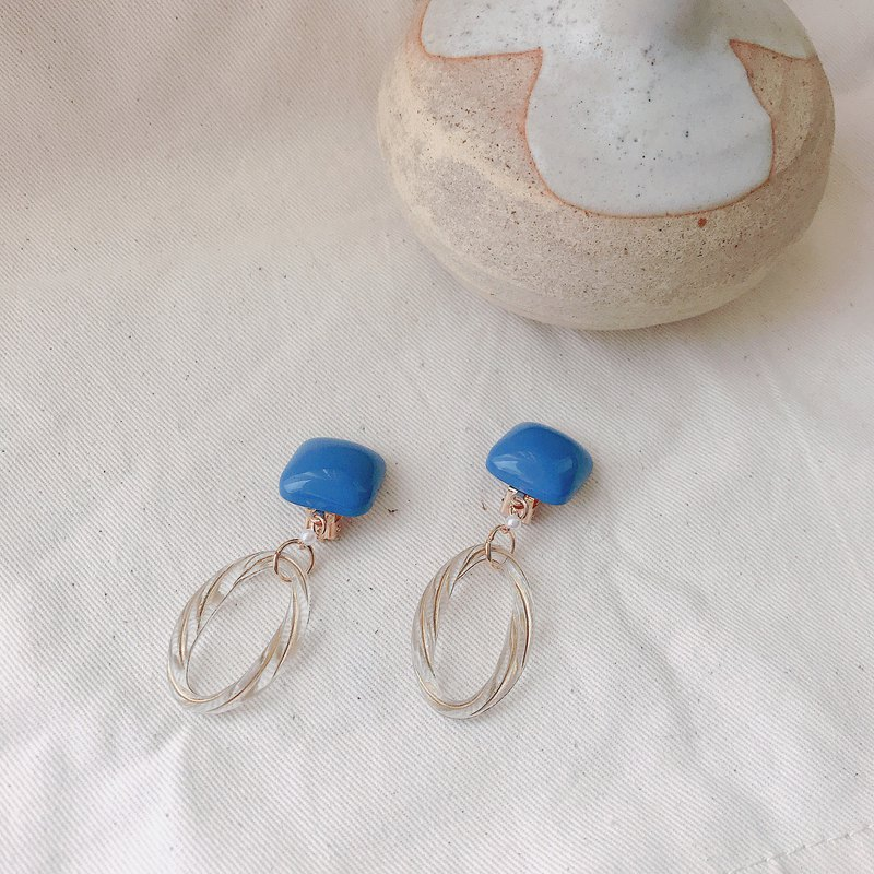 Afternoon shower - clip earrings