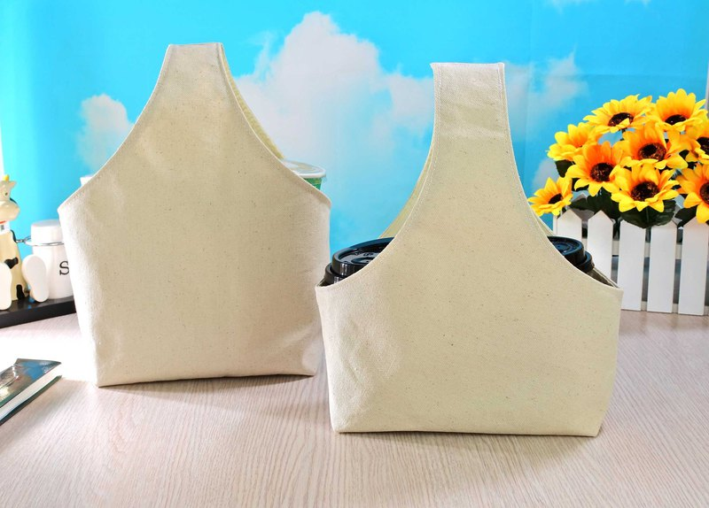 Cotton Canvas Two Cups Beverage Bag Multipurpose Meal Bag Butterfly Valley Bart Available