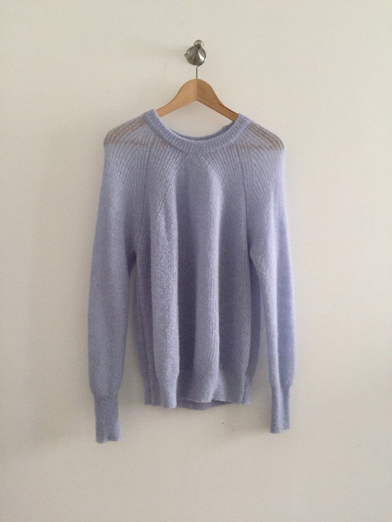 19sale mohair micro-transparent sweater sample cleansing