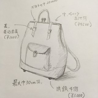 Mr. Hsiao Lan Su special orders Hamaguchi Nume leather backpack ruotare M Camel