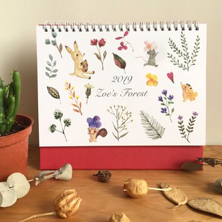 Zoe's forest 2019 Taiwan flower season table calendar A5