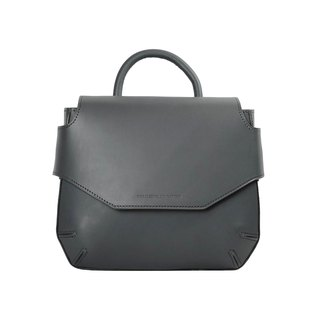 POMOLO shoulder leather bag /Grey