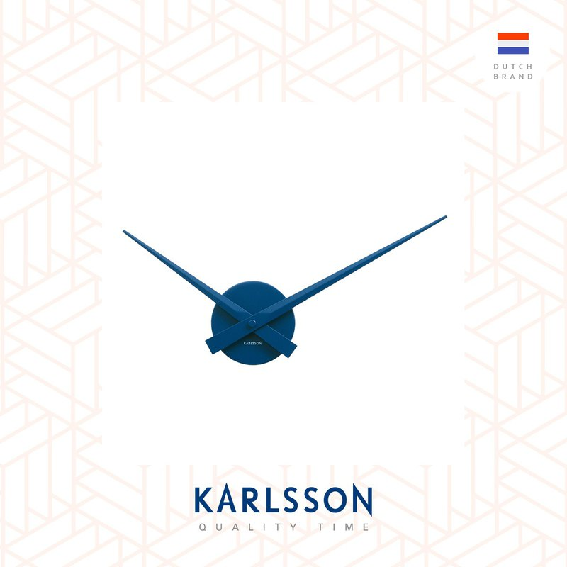 Karlsson Wall clock Little Big Time Dark Blue Mini