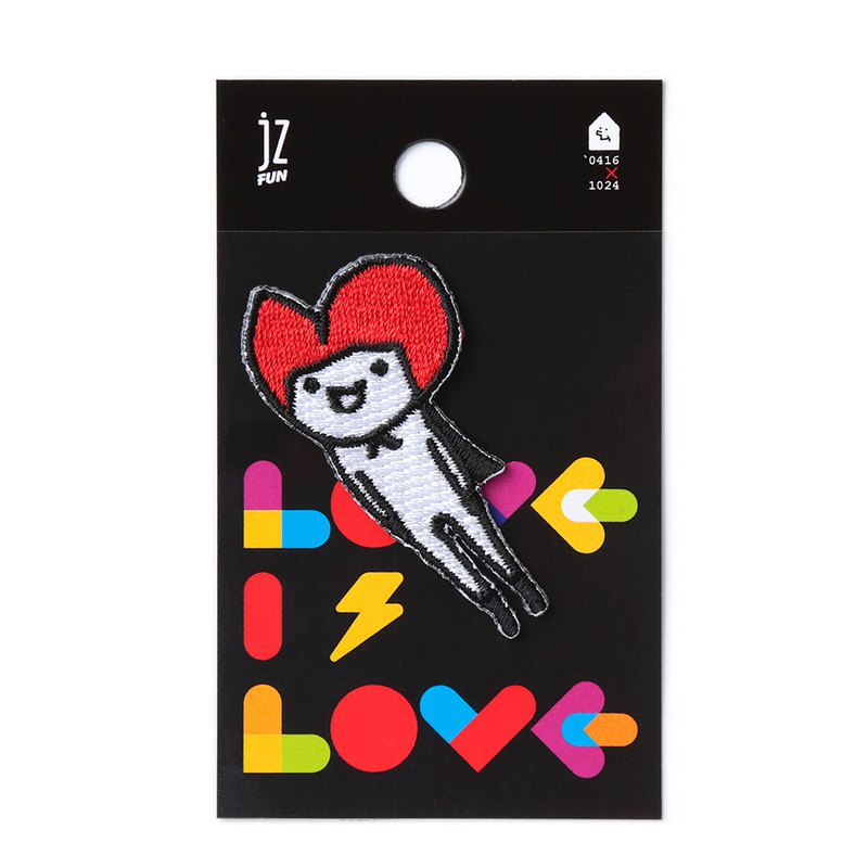 LOVE IS LOVE. Embroidered decorative stickers