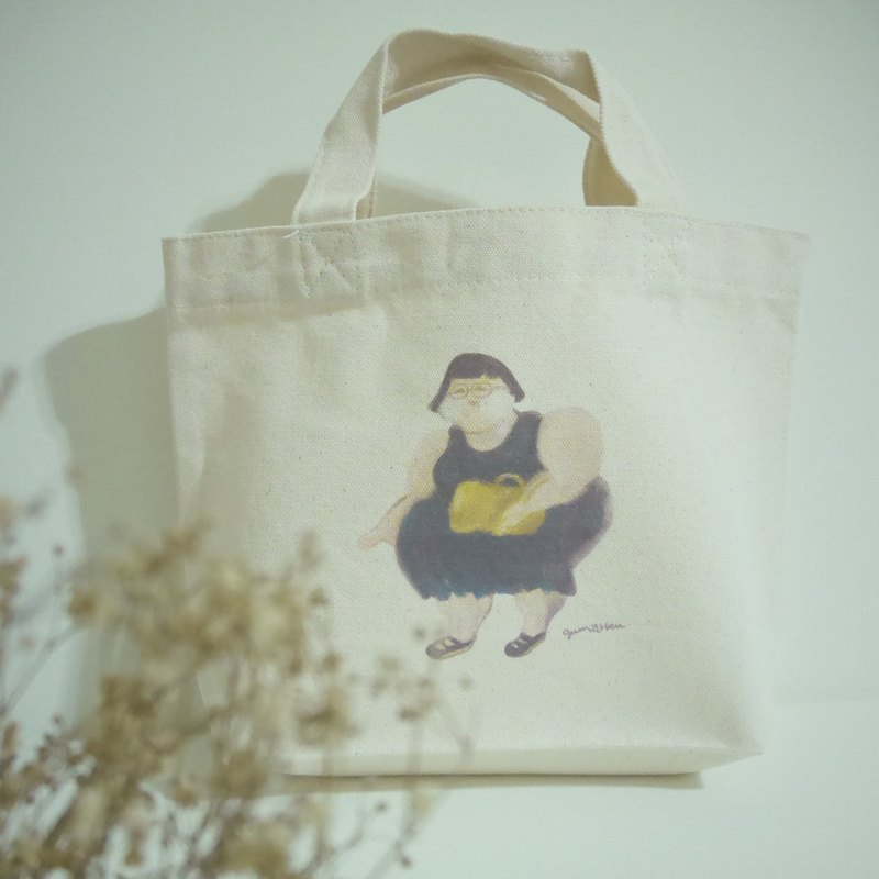 Running mind: small tote canvas bag