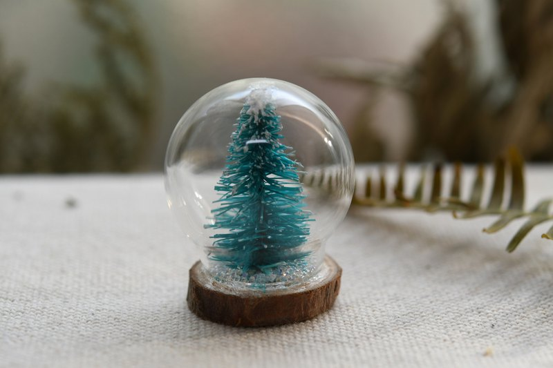 Round wood bulb _ Christmas tree‧ glass ball decoration