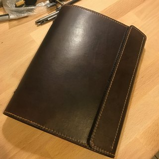 Handmade leather handmade handmade leather leather magnet buckle 20 hole A5 loose-leaf notebook (free print, embroidery)