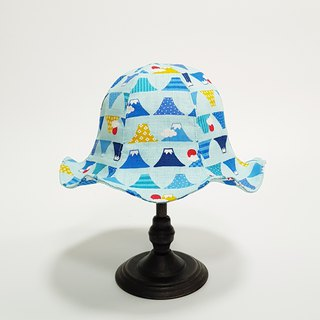 Big Lily Flower Hat - Cute Mount Fuji 2018 Summer New Item # Sunscreen # Japanese Fabric