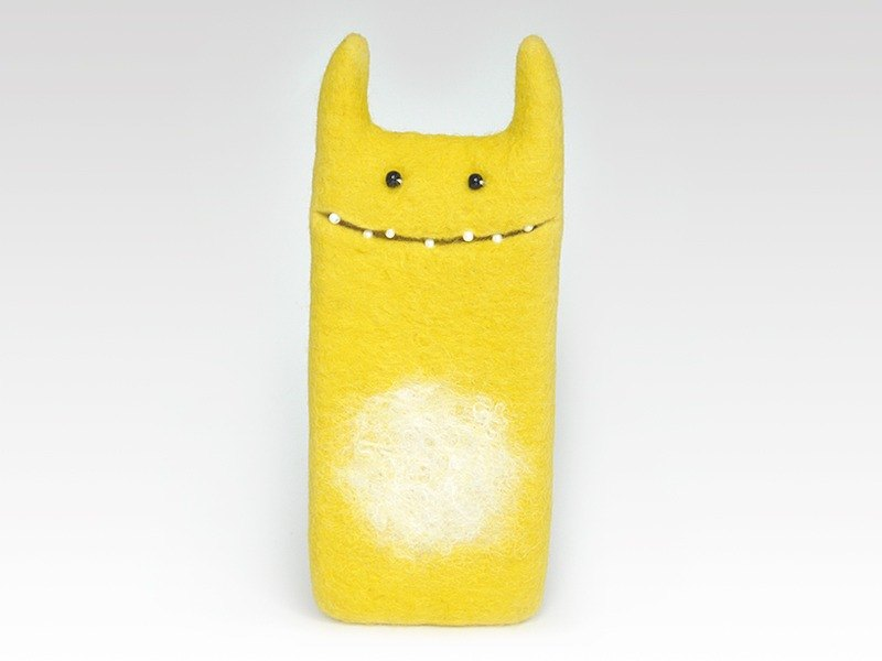 Monster Yellow case for iPhone 7, for iPhone 7Plus,  wool felted case