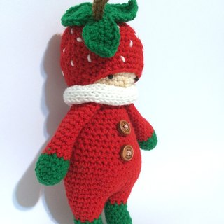 Aprilnana_Forest strawberry crochet doll, amigurumi