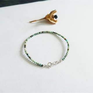 Natural stone・Bracelet Turquoise 925 sterling silver