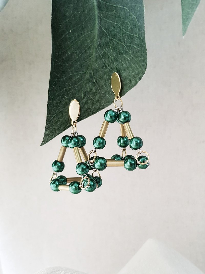 SETH Earrings :EMERALD
