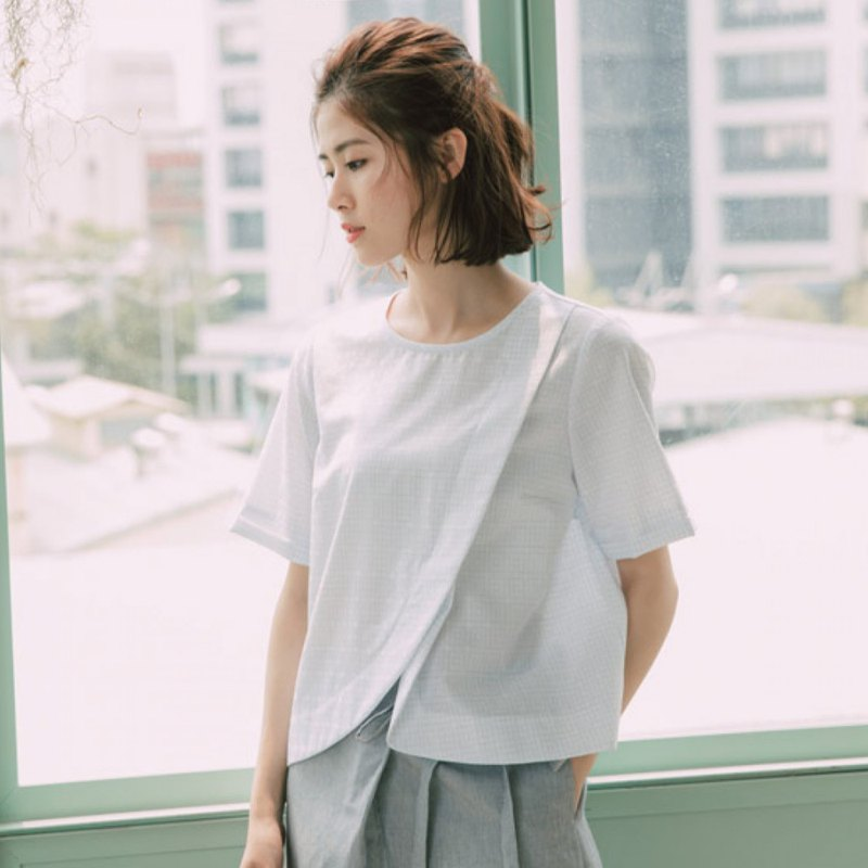 Exchange diary oblique open shirt
