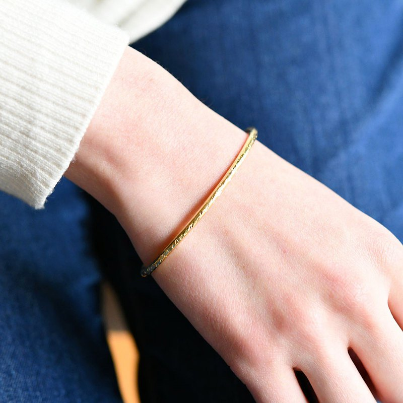 Brilliant bangle brass brass separately Ralulu.shu brass bangle