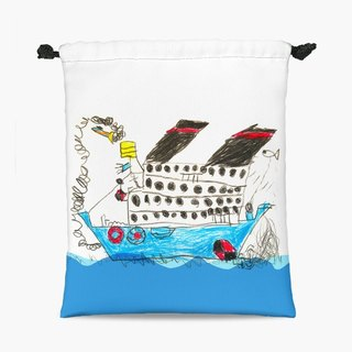 Drawstring Pouch - On the sea