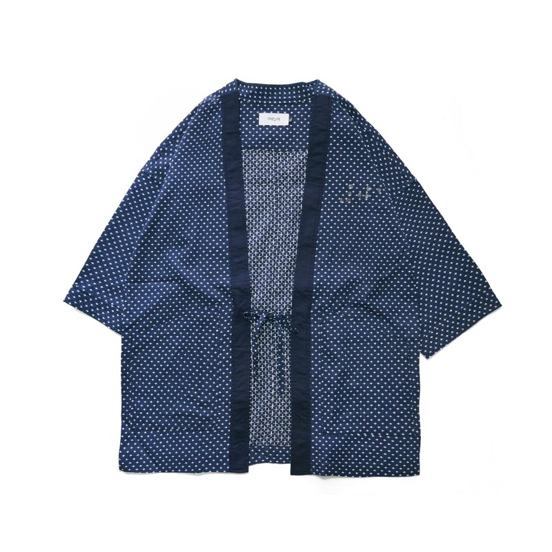 oqLiq - Project 01 - Braille Noragi (Dark Blue Cross Embroidery)