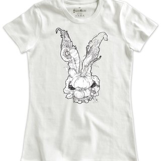 Classic White Short-Sleeve T-Shirt_Vegetable Bunny (Female M UnStocked)