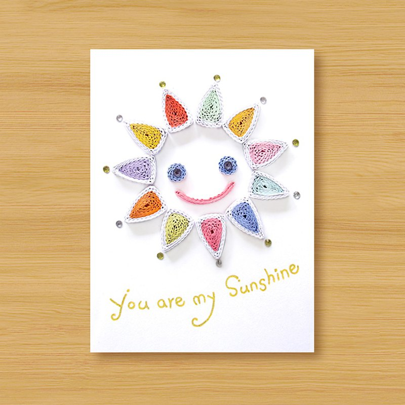 (3 models to choose from) Handmade Roll Paper Cards _ You are my sunshine - Valentine Card