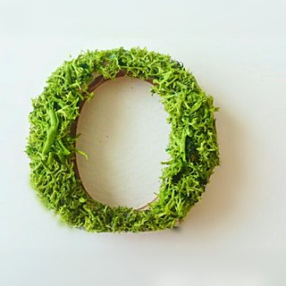 "Wooden alphabet objects (Moss) 5cm ""O O"" × 1 point"