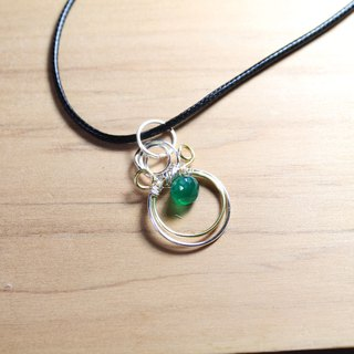 Green Chalcedony Mountain Dew Necklace