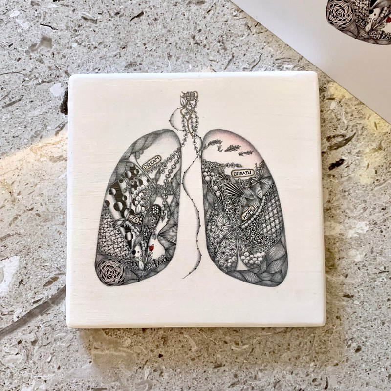 The Lung | Ceramic Tangles Coaster