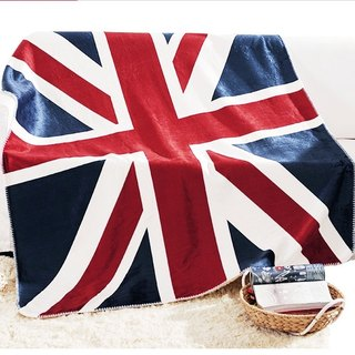 Giant Union Jack Fleece Sherpa Blanket