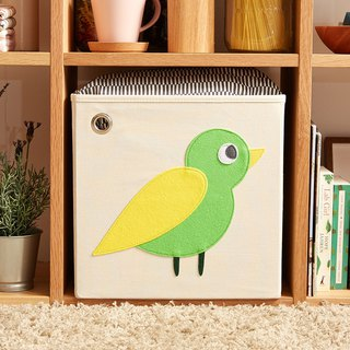 USA kaikai & ash Toy Storage Box - Forest Bird (Green)