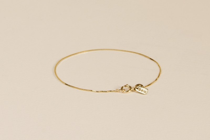 14k gold real gold small gold lettering bracelet