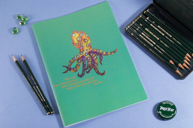 Blue ring octopus notebook
