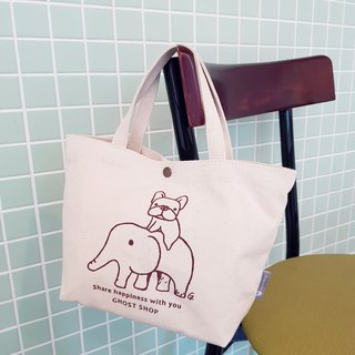 Fighting canvas bag - small / portable / fighting elephant icon