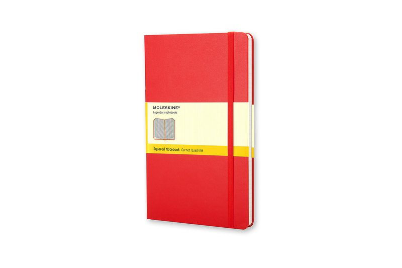 MOLESKINE Classic Red Hard Case Notebook-L-Checkered-Bronzing Service
