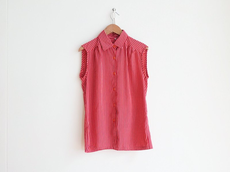 Vintage / Shirt / Hand Sleeveless no.165