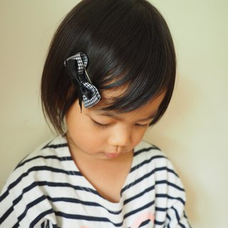 Handmade Blue bow hair accessory (clip/ band/ corsage)