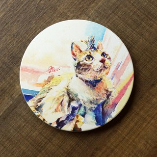 Ceramic absorbent coasters - Princess laughs