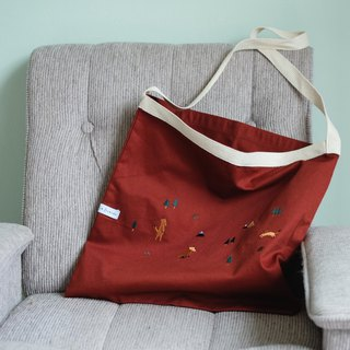 FOX Tote Bag ( Red )