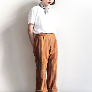 Vintage orange vintage high waist wool trousers