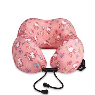 Murmur Rolling Neck Pillow / Hello Kitty Teddy Bear - Love NP015