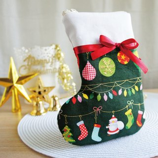 Lovely [Japanese cloth] Christmas tree decoration Christmas socks mobile phone bag, dark green gilding, 5.5 吋 available
