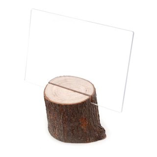 Taiwan Elm Business Card Holder|Natural style natural log personality card storage
