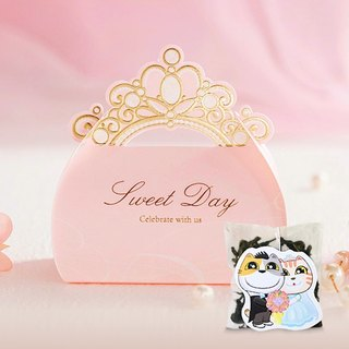 Princess Crown Wedding Small Things Cats Dedicated Tea Customized Handmade Wedding Tea Bag Gift Box Cat Modeling Creative Tea Bag (50 Mins)