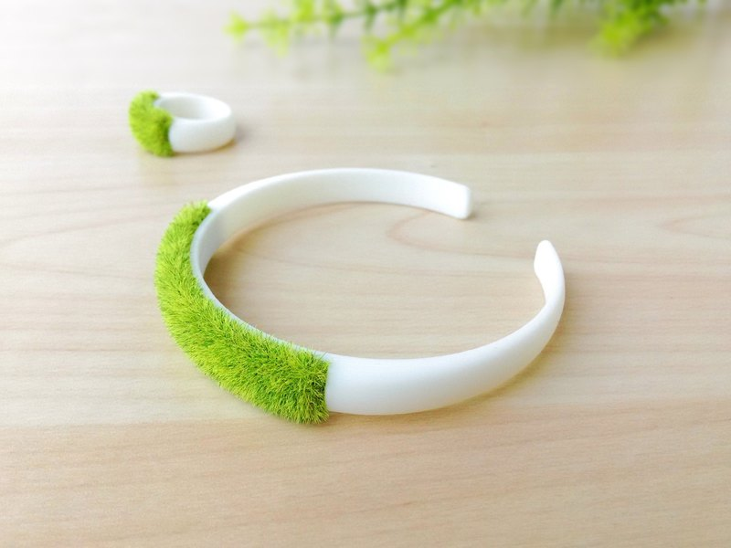Green miniature planter bracelet, grass bracelet, Kawaii bracelet