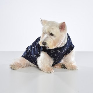 Small V-neck shape floral pet clothes - wide version