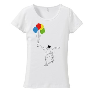 [Women's T-shirt] UP 2 (Black & Chrome)