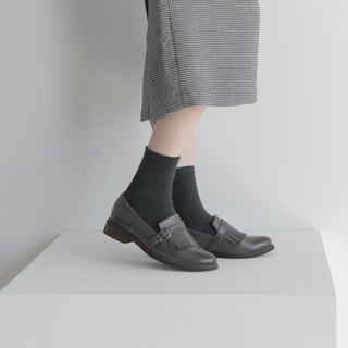 Fringe Loafers_Dark Grey